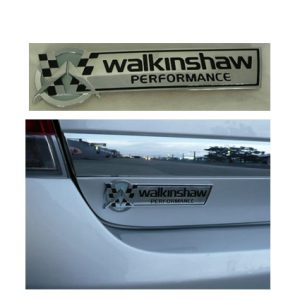WALKINSHAW PERFORMANCE CORPORATE LOGO BADGE CHROME FINISH