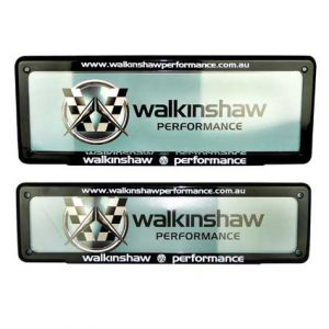 WALKINSHAW PERFORMANCE NUMBER PLATE COVER SLIM FRT STD REAR